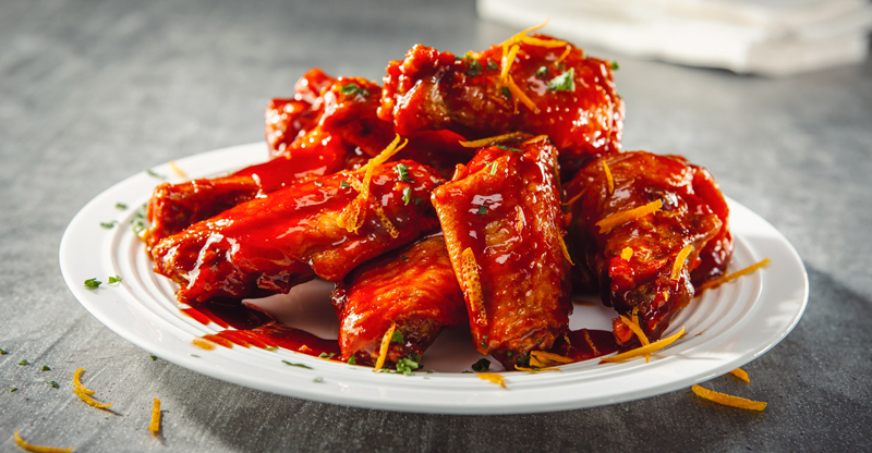 Sticky Spicy Wings